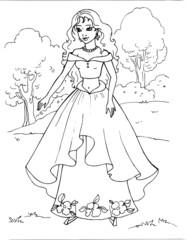 Coloring the Beautiful Princess 18