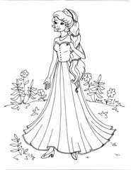 Coloring the Beautiful Princess 19