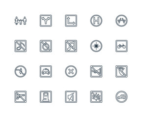 Set Of 20 Universal Editable Icons. Includes Elements Such As Ca