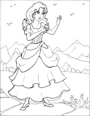 Coloring the Beautiful Princess 22