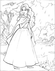 Coloring the Beautiful Princess 23
