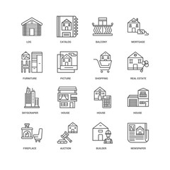 Simple Set of 16 Vector Line Icon. Contains such Icons as Newspa
