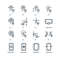 Set Of 16 Universal Editable Icons. Includes Elements Such As Sm
