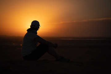 Paisaje de dunas desierto de Merzouga marruecos