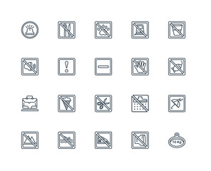 Set Of 20 Universal Editable Icons. Includes Elements Such As We