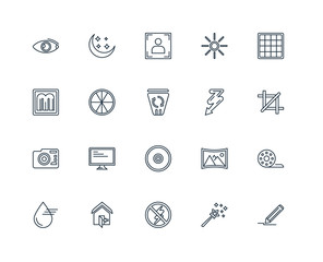 Set Of 20 Universal Editable Icons. Includes Elements Such As Pe