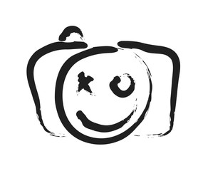 Happy Face Smile Icon, art vector design