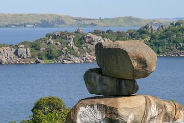 natural rock stack