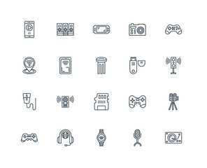 Set Of 20 Universal Editable Icons. Includes Elements Such As Tu