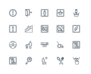 Set Of 20 Universal Editable Icons. Includes Elements Such As Si