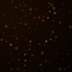 Sparse starry snow Christmas overlay. Christmas li