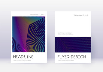 Minimal cover design template set. Rainbow abstrac