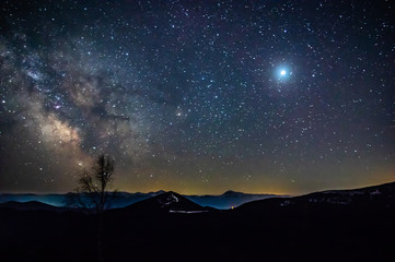 Starry night in the Carpathians