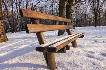 park under snow