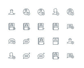 Set Of 20 Universal Editable Icons. Includes Elements Such As Sp