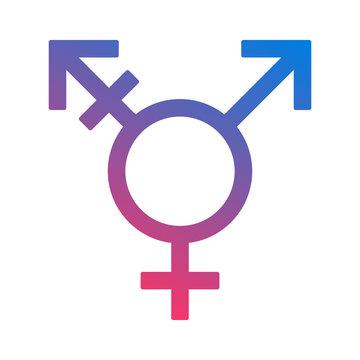 Color transgender / trans or gender dysphoria symbol flat vector icon for apps and websites