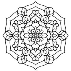 Mandala Vector Coloring Page Design