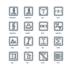 Set Of 16 Universal Editable Icons. Includes Elements Such As Te