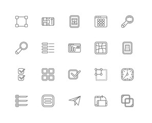 Simple Set of 20 Vector Line Icon. Contains such Icons as Overla