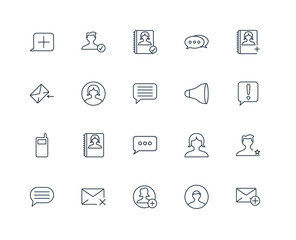 Set Of 20 Universal Editable Icons. Includes Elements Such As Em
