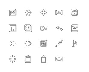 Simple Set of 20 Vector Line Icon. Contains such Icons as Vignet