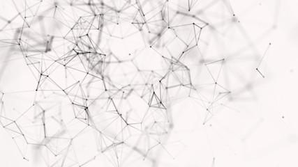 Big data visualization. Science background. Big data complex with compounds. Lines plexus. Digital Plexus Glow Dots Backgrounds.