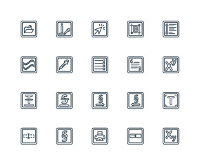 Set Of 20 Universal Editable Icons. Includes Elements Such As Su