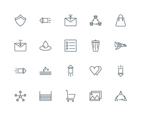 Set Of 20 Universal Editable Icons. Includes Elements Such As Gr