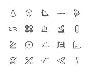 Simple Set of 20 Vector Line Icon. Contains such Icons as Parabo
