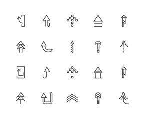 Simple Set of 20 Vector Line Icon. Contains such Icons as Up arr