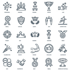 Set Of 25 Universal Editable Icons. Includes Elements Such As Am
