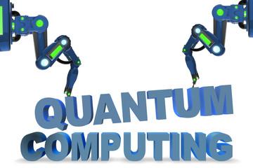 Quantum computing concept - 3d rendering