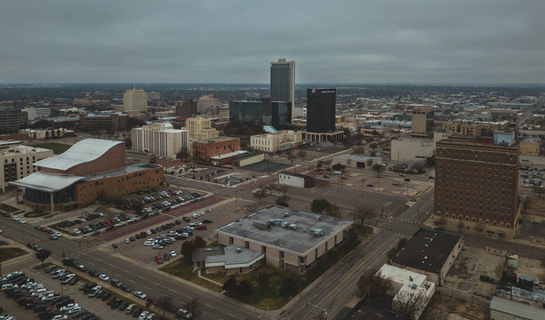 aerial view of the city of Amarillo Texas