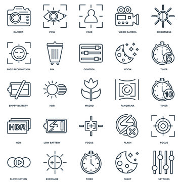 Set Of 25 Universal Editable Icons. Includes Elements Such As Se