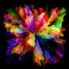 Numeric Colorful Paint Splash Explosion