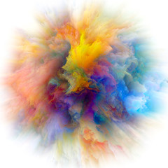 Energy of Colorful Paint Splash Explosion