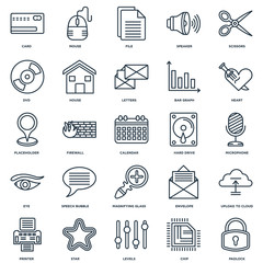 Set Of 25 Universal Editable Icons. Includes Elements Such As Pa