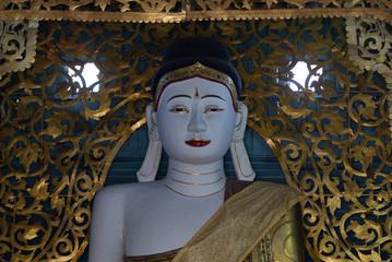 Burmese style Buddha statue at Mae hong Son, Thailand