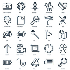 Set Of 25 Universal Editable Icons. Includes Elements Such As Zo