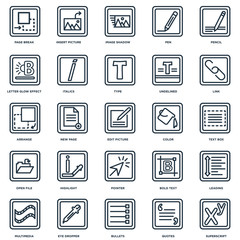 Set Of 25 Universal Editable Icons. Includes Elements Such As Su