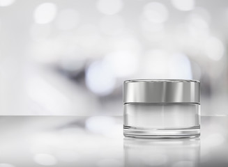 cosmetic cream pot
