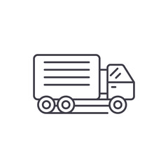 Container ship line icon concept. Container ship vector linear illustration, sign, symbol