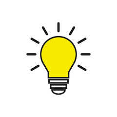 Light Bulb icon. Light Bulb line icon vector.