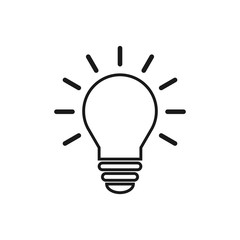 Light Bulb icon. Light Bulb line icon vector.