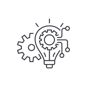 Engineering system line icon concept. Engineering system vector linear illustration, sign, symbol