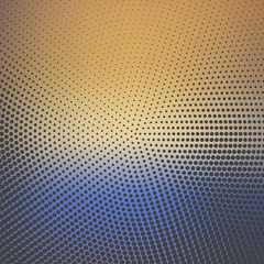 Gradient dots pattern, abstract geometric background