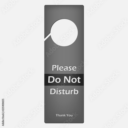 please do not disturb template
