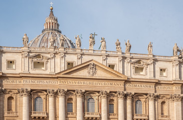 St. Peter's Basilica at Vatican City in Rome