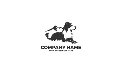 Mountain Dog Training Animal Logo Template