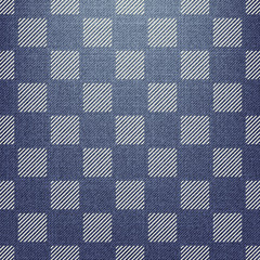 Square pattern on textile, abstract geometric background